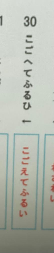 中学国語の歴史的仮名遣いについて。 語頭以外の「ふ」は「う」に変換されると習ったのですが、これは何故「ふ」のままなのでしょうか。こごえて/ふるい で切れるということですか...?