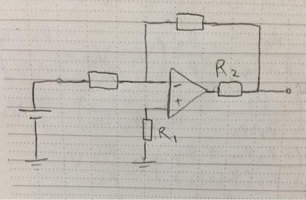 オペアンプを用いた反転増幅回路についてです。図の回路でR1とR2の抵抗は短絡とみなして考えることができると習ったのですが、理由を知りたいです。よろしくお願いします。