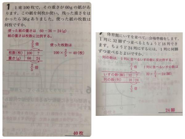 下の写真の問題なんですけど、 ○○は☆☆に比例するとか、 **は♪♪に反比例するとかが赤字で書かれているんですけど、どうやったら、比例するとか反比例するとかが分かるんですか?