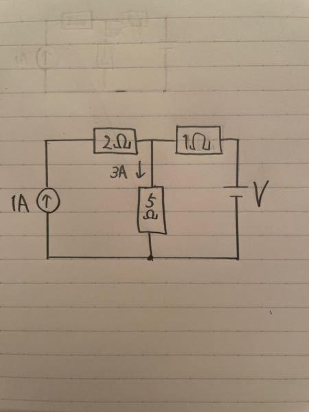 この回路のVの値はどのようになりますか?