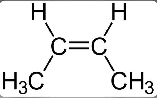 シス-2-ブテンについてです。 このH₃CはCH₃と書いても大丈夫ですか? もし大丈夫ならどうしてこのような表記になってるんですか?