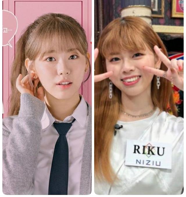 恋愛革命のミンジ(チョン・ダウン)ちゃんとNiziU RIKU ちゃん 似てませんか? 恋愛...