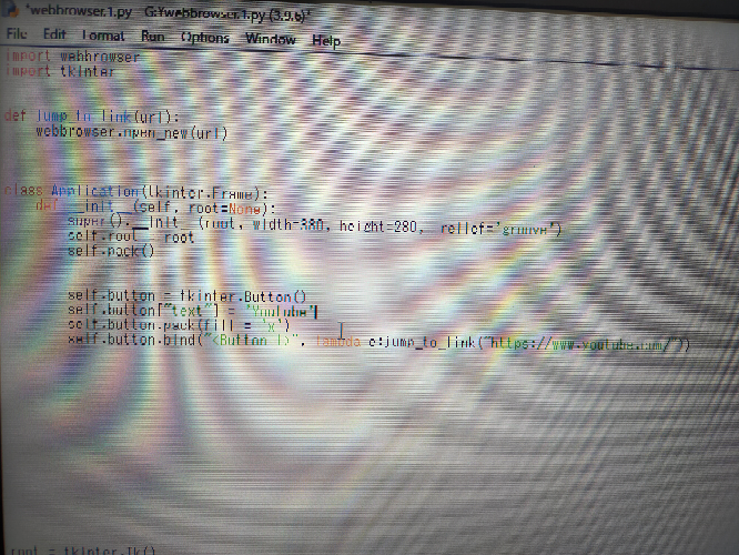こちらのPythonのコードなんですが、2個目のボタンを作りたいのにコード書いても2個目出てこないです、なんでですか?
