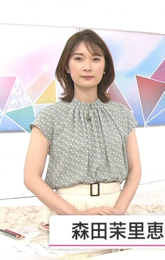 質問です。 1.森田茉里恵アナ、グレーの柄物トップスに白のスカートは素敵でしたか? 2.今朝の綺麗度は如何でしたか(100満点で)? (◆danさん用◆)