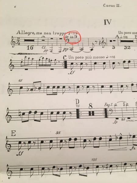 ホルンの楽譜なんですが、これってin Dで読むってことですか?
