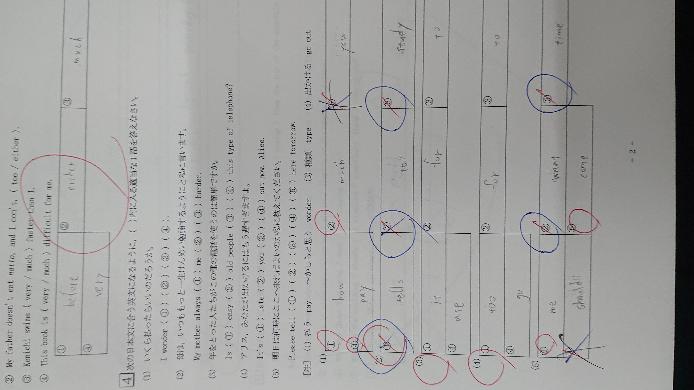 下の(2)の③と(5)の④を至急教えてください 英語です