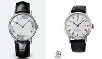 腕時計の購入を検討しています。  具体的に以下の特徴で探しているのですがしっくり来る物が見つかりません。 文字盤:白、ローマ数字、日付なしのシンプルなもの ベルト:レザー(黒) ケースサイズ:38mm以下  探した限りBREGUETの5157BBがとてもピッタリなデザインだったのですが流石に高額すぎて断念・・・現在ORIENTのRK-AU0002Sが妥協点かなという所です。(日付表示がなけれ...