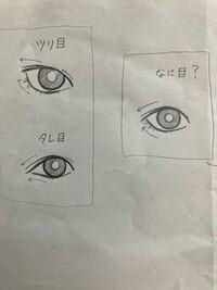写真のように、ツリ目かタレ目か分からない目ってなんて言うんですか? また、この右側の目は他者から見てツリ目とタレ目どちらに見えるのでしょうか? ご意見ご聞かせください