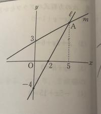 2直線L、Mの交点Aのy座標を求めよ。 この問題の求め方をできるだけ分かりやすく教えてください(TT)