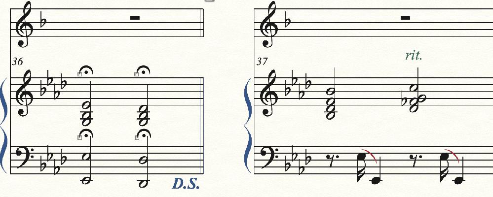 【Finale 26について】 ①D.Cで最初に戻ると、フェルマータのテンポのまま再生されてしまいます。 ②何度か曲中にrit.が出てくるのですが、プレイバックに反映されません。 (a temp...