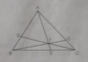 この問題(中学受験の算数)、詳しく解説いただけるとうれしいです。 三角形ABCで、AD:DB=2:1、BE:EC=3:2。また、AEとCDの交わる点をF、BFの延長とACが交わる点をGとします。 (