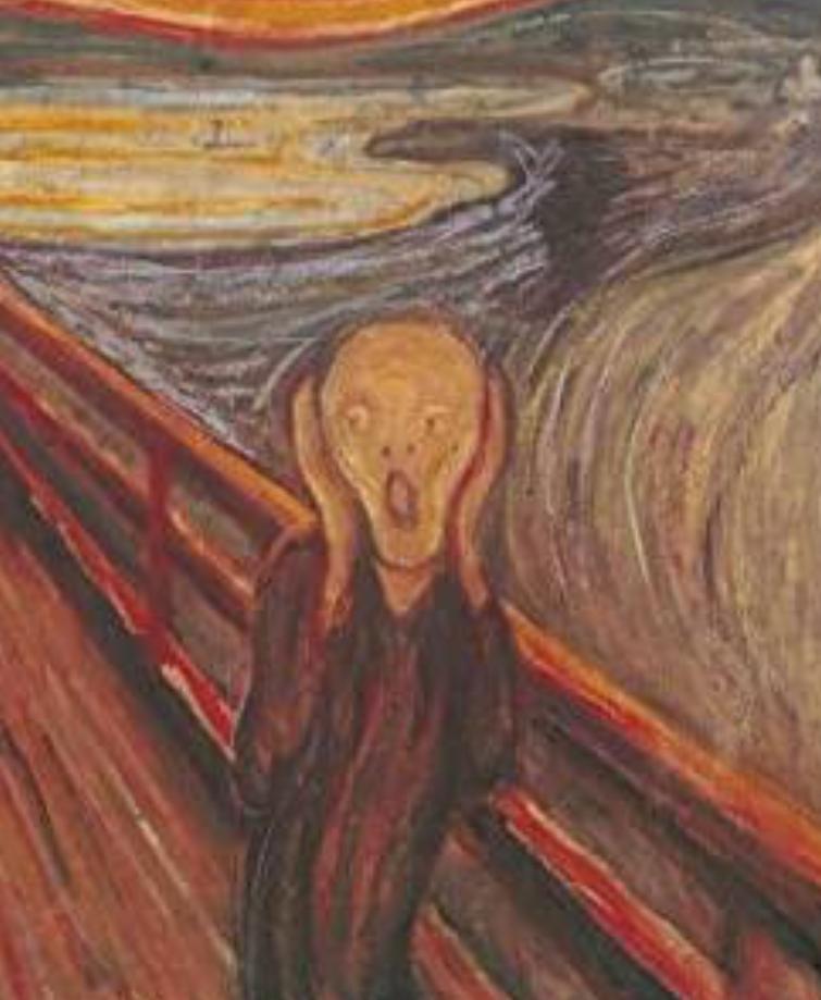 【ムンクの叫びを連想する曲】 ムンクの叫びを連想する曲はありますか? 貼付画像はネットで探しました。