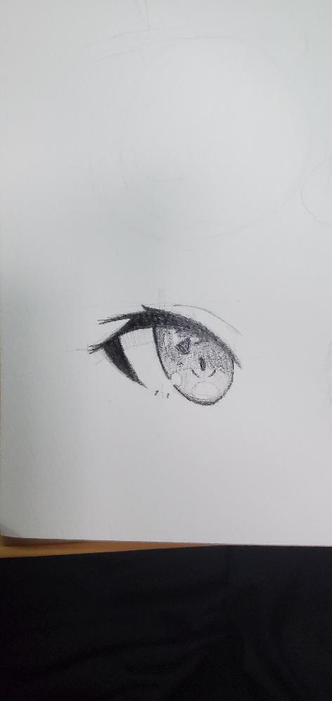 このような目をいつも描いているのですが角度をいじって自由なアングルでかくことができません。どうすればよいでしょうか?