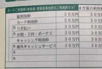 三井住友visaカードについて。 画像の、この場合はショッピング枠は20万、キャッシング枠は30万ということでしょうか? 初めてのクレジットカードでよくわからなくて……。