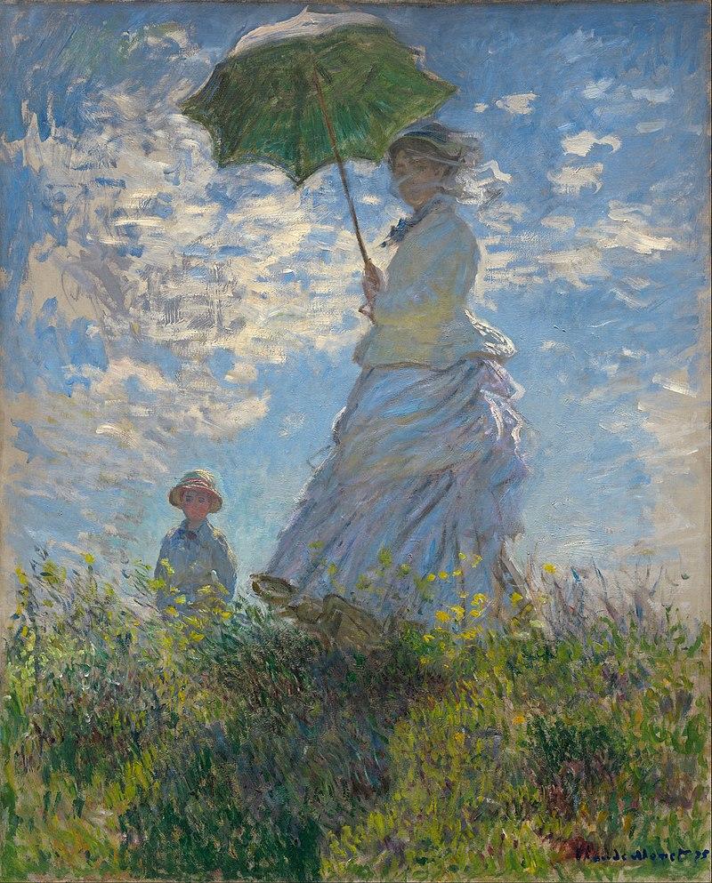 フランスの印象派、クロード・モネの「散歩、日傘をさす女性」 この絵にピッタリの曲、挙げて見て下さい!