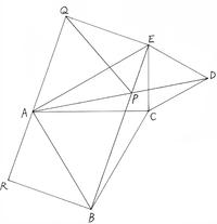 下図で、△ABC, △CDEは正三角形 ∠ACE=90°, ∠CEA=60° 四角形BEQRは長方形, 点Aは辺QR上の点 点Pは線分AD, BEの交点 となっています。 このとき、△APQは正三角形であることを証明してください。 中学生の解法でご回答いただけると嬉しいです。