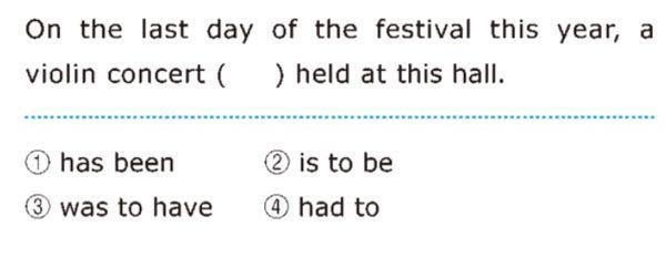 """高校英語 不定詞の問題です 知恵袋で調べてみたら、 「 """"On the last day of the festival this year """"があるから未来のことだと分かるので、予定を表す②を使う」 みたいな解説を見かけたのですが、なんで未来のことと言い切れるのかわからないです 写真の問題の正解は②です 回答よろしくお願いします"""