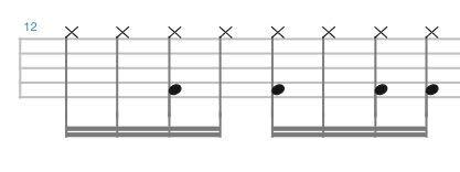 この譜面のようなドラムフレーズの場合、バスドラムは片足かツインペダルのどっちの方がいいんでしょうか?
