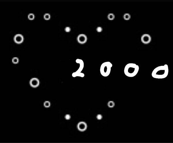 インスタのプロフィールに画像のような自己紹介を入力したいのですが、何度試してもなかなか綺麗なハートになりません。で、2000って数字も画像くらいの場所に入力したいです。よければ誰かコピペ用を作っていただけ ませんでしょうか?