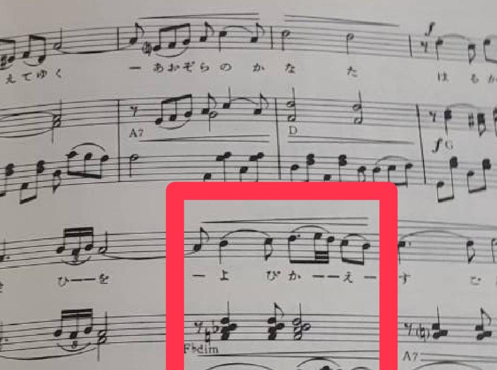 此譜面に「F♭dim」なるコードが有りましたが、これは間違へですよね?