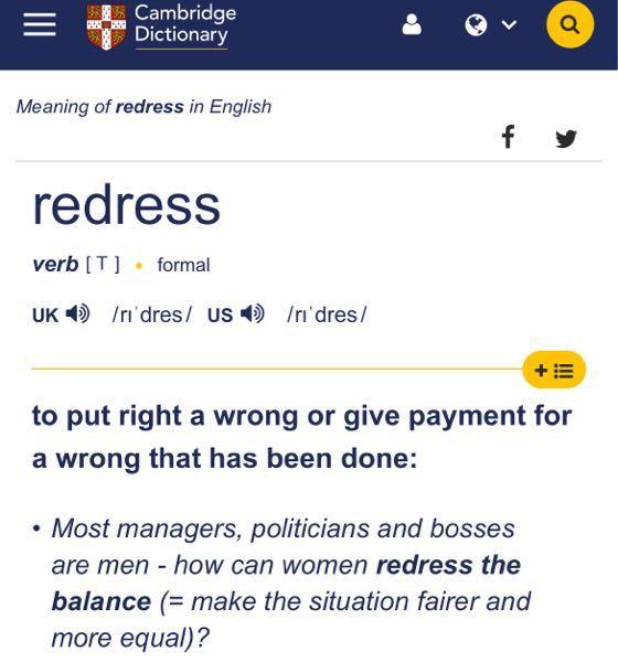 以下はケンブリッジ英英辞典からの引用です。 ****** redress verb [ T ] formal to put right a wrong or give payment for a wrong that has been done ****** redressの意味から、過ちを正す といった主旨の意味が書かれていると想像されますが、なぜ put a wrong right の語順ではないのでしょうか? 以下は、英辞郎やWeblioからの引用です。 ****** 【英辞郎】 put ~ right (人)の誤った考えを正す 表現パターンput [set] ~ right 【Weblio】 put things right 事態を正す. I put my watch right. 時計を合わせた 【ロングマン英英】 put something right ******* put A right の語順は他にもたくさん見つかるのですが、 put right A といった語順はこれ以外、全くみつかりません。 なぜこの語順なのかとても気持ち悪いのですが、説明できる方いらっしゃいますでしょうか? よろしくお願い致しますm(_ _)m
