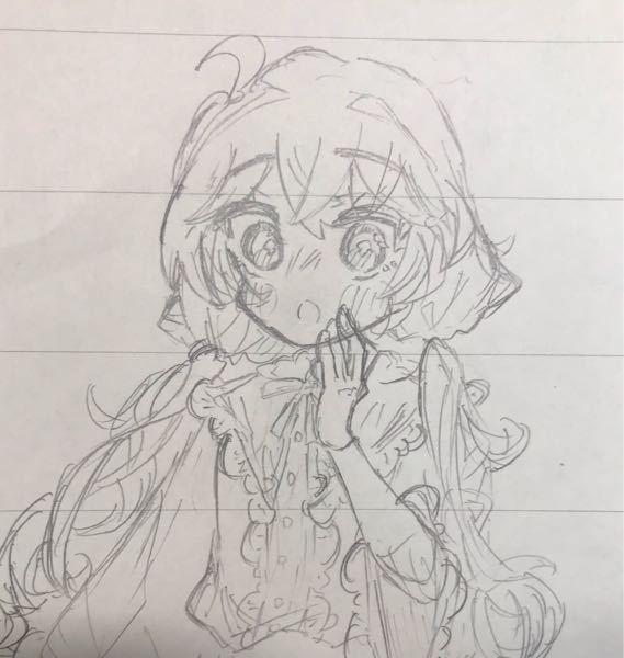 中学生です。 まだ下書きですが、この絵は上手い方でしょうか? また、改善点などはありますか?