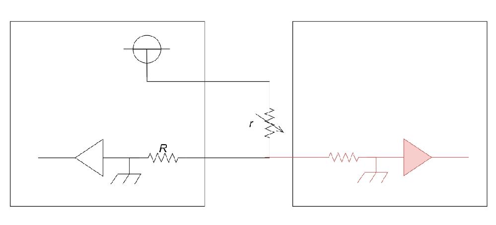 センサーを図のように分配(赤線部分追加)したいのですが、従来のECUで読み取る電圧レベルを分配前から変わらないようにするためにはどうしたら良いでしょうか? (赤線部分の回路は自由に設定可能) ち...