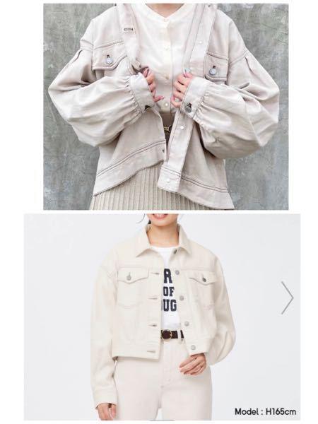 どっちの上着の方が可愛いですか? 着回しやすいのはどっちですか?