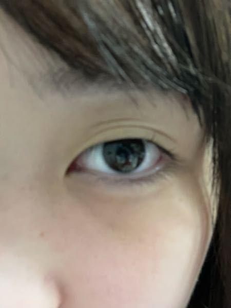 二重の線濃くする方法教えてください ♀️ 普通の目にしてたらこんな(写真)感じになってしまいます。