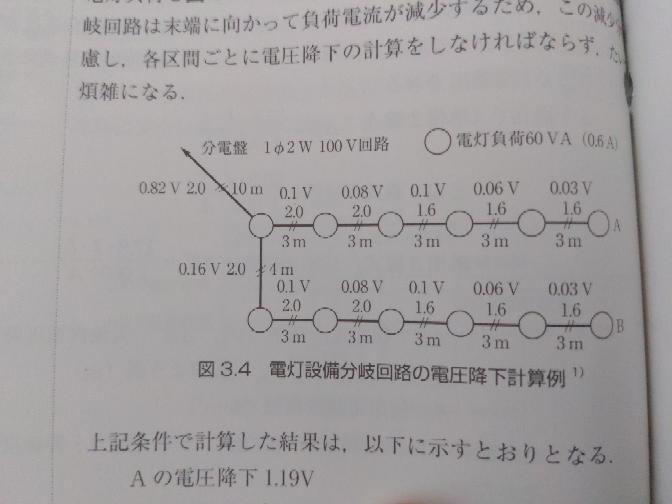お伺い致します。 下記の写真の一番左下のところの0.82Vの計算式が知りたいです。 簡易計算でお願い致します。 35.6×I×L/1000×A どうしても0.82にならないんです。 宜しくお願い致します。