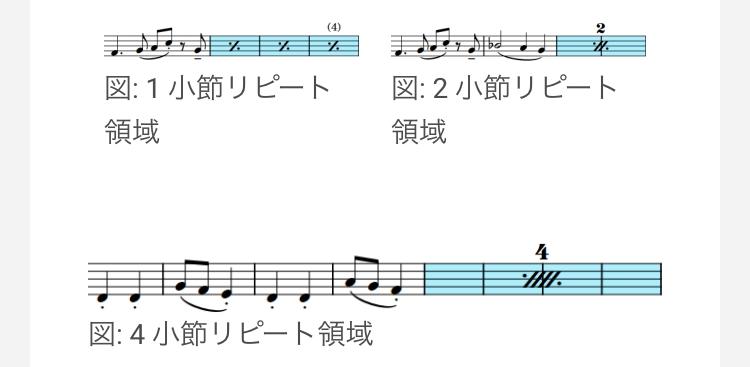 cakewalkでドラム譜を作っています。 そこで質問なのですが、cakewalkの譜面ビューで小説繰り返し記号(画像のようなもの)を表示することは可能でしょうか。 もし可能で有れば、そのやり方も教えてください。 DTM cakewalk by bandlab DAW ドラム 楽譜 音楽 バンド スコア 譜面