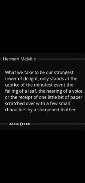 これを訳してくれませんか メルヴィルの言葉らしいのですが…ピエールの一文でしょうか?
