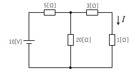 1Ωを切り離して両端端子から見た開放電圧が8V さらに電源を短絡し両端子から見た抵抗 答えは7Ωですが 導くまでの式が分かりません 答えまでの式を教えてください