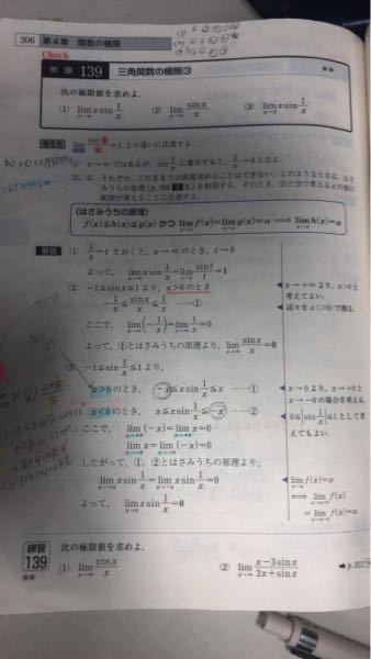 (3)のとき、xを1/tでおいて(2)より極限は0としても良いでしょうか?