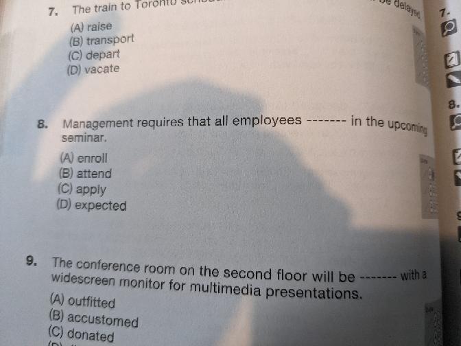 この8番の問題、回答はAとのことですがBではいけない理由を知りたいです。よろしくお願いいたします。