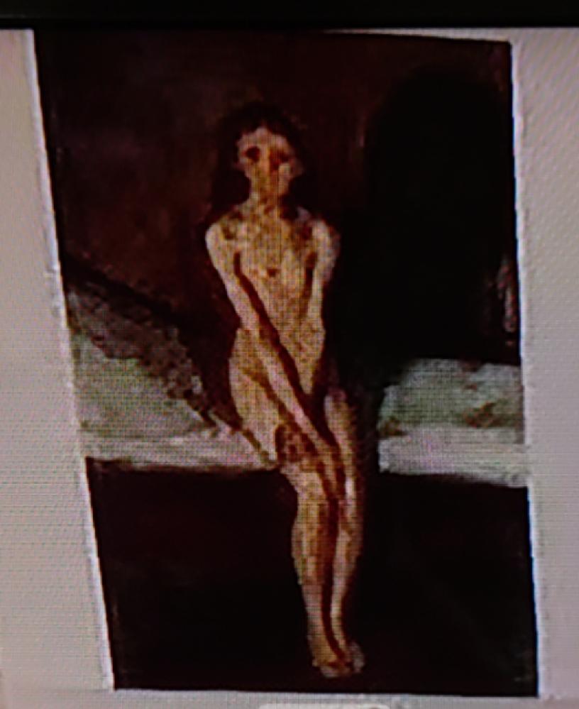画像荒いですが、 この絵画って、誰の何という作品ですか? 見た覚えがあるんですが、思い出せず。 ピカソのように、初期と後期とで絵のタッチが変わった画家さんのものだったような記憶があるのですが、全然違うかも。