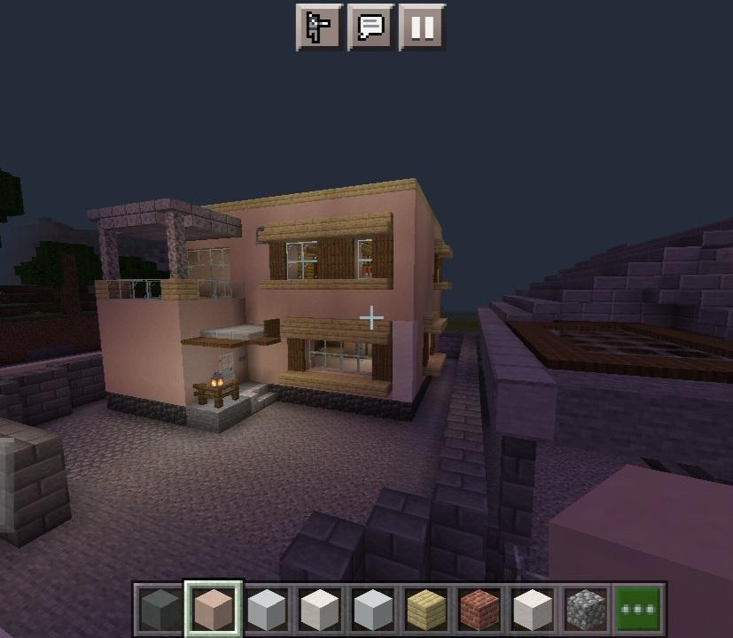マイクラ歴2年ちょっとですがこの家の評価をお願いします。