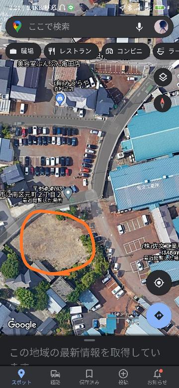 新潟県の亀田にある佐文工業所の横(画像の丸の部分)にあった屋敷?のようなものについて知ってる方いませんか? 私が小学生の頃は存在し、気になっていたのですが、いつの間にか取り壊されてなくなり疑問が残ったままです。