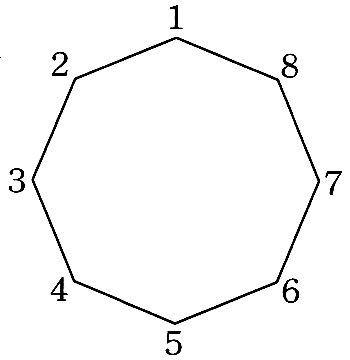 正八角形の中の頂点を結ぶ対角線でできる鋭角三角形、鈍角三角形の数はいくつになりますか?図がほしいです。よくわかりません。