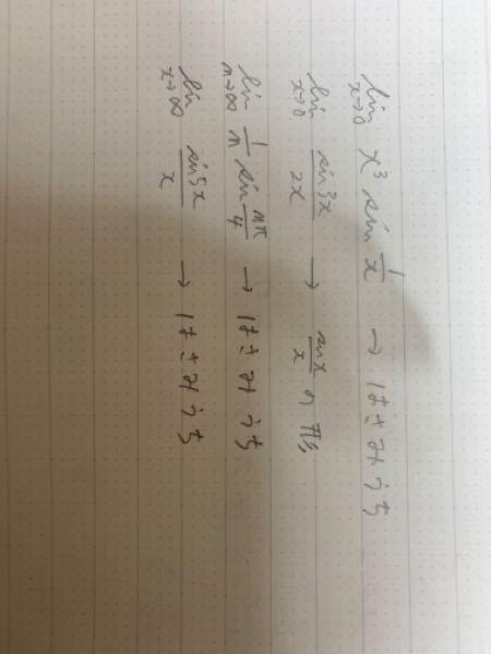 数3 はさみうちの原理を使うときと使わない時の区別の仕方を教えて下さい