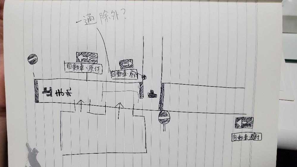 一方通行の質問です。 駐車場から出るとこの道路は一通の看板がありますが 逆走側に停止線があります。 駐車場から出て停止線までは一通じゃないと言われましたが 自転車の停止線であって 車は一通ですよね? 文章にするのは苦手なので書きました。 分かりにくいかもしれませんがよろしくお願いします。