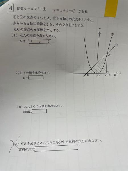 ⬛︎4の(4)わかる方解説お願いします、、