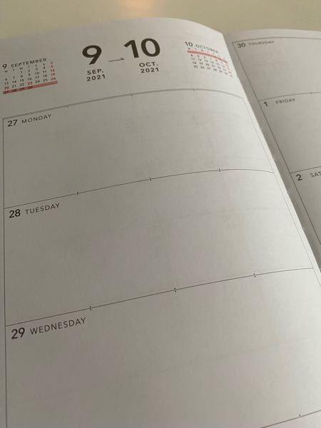 3coinsでスケジュール帳(2022年)を買ったのですが、このページには何を書いたらいいと思いますか?