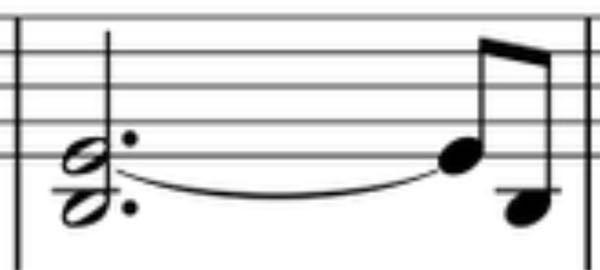 楽譜の読み方について質問です。 このような時はシは3拍でミは3.5拍伸ばすんですか?