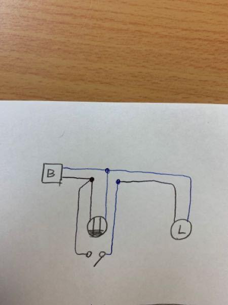 このような配線をするとスイッチを入れないとコンセントは機能しませんか?青色が白の線です。