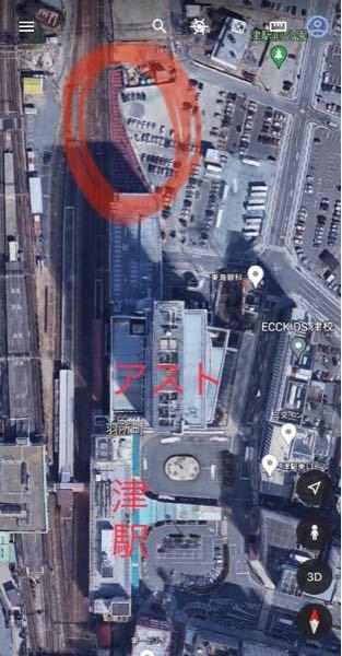 至急お願いします!! 津駅周辺に詳しい方、画像の赤丸は無料の駐輪場でしょうか??
