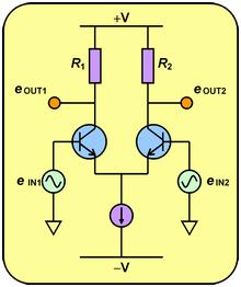 電子回路初心者です。 写真の差動増幅器の電流源はどうやって作るのですか。