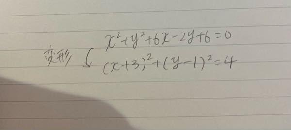 数学の問題です。変形させる前の途中式を教えてください。