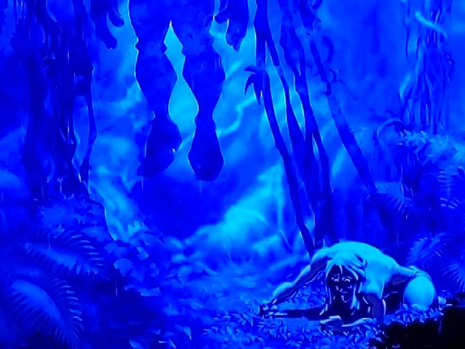 ディズニーアニメ映画ターザンのこのシーン、めっちゃ怖くないですか?:(;゛゜'ω゜'):