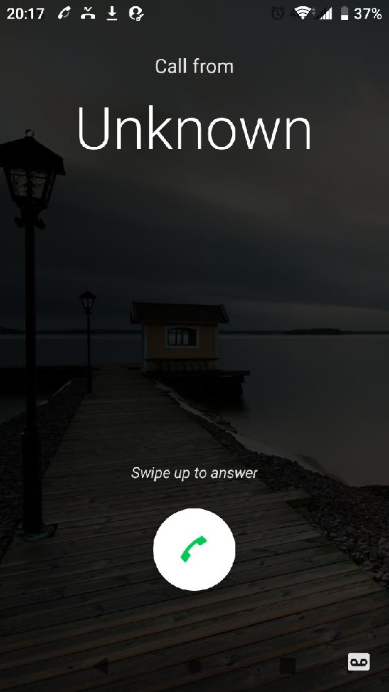 android スマホを使ってます 電話がかかってきて、電話を取ろうとしてうっかり、画面右下のテープのマークをスワイプしてしまうと、電話が切れて「電話に出られません」というメッセージが流れてしまい超むかつきます どうしたら、この邪魔で不要なテープのマークを消すことができますか?